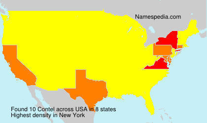 Surname Contel in USA