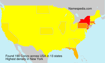 Surname Conzo in USA