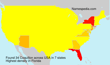 Surname Coquillon in USA