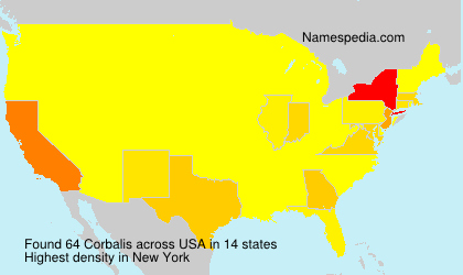 Surname Corbalis in USA