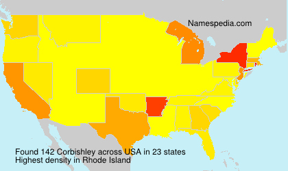Surname Corbishley in USA