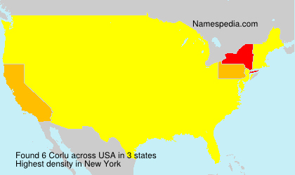 Surname Corlu in USA