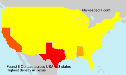 Surname Cortazo in USA