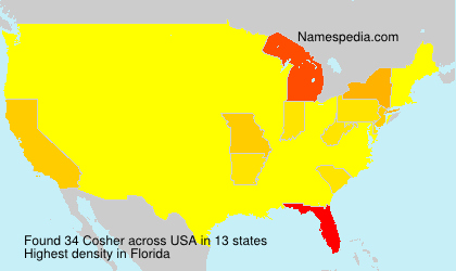 Surname Cosher in USA