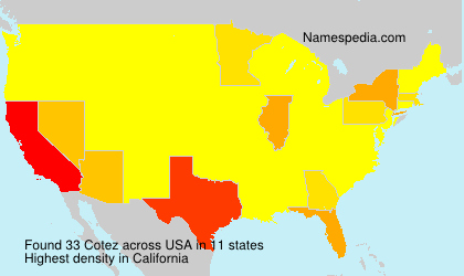 Surname Cotez in USA