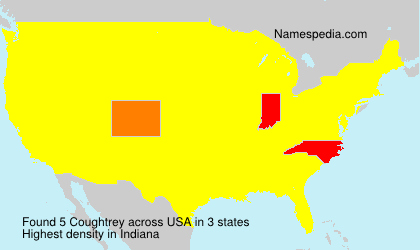 Surname Coughtrey in USA