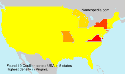 Surname Coullier in USA