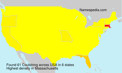 Surname Coulstring in USA
