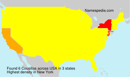 Surname Cousillas in USA