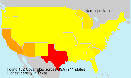 Surname Covarrubio in USA