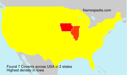Surname Covents in USA