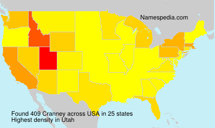 Surname Cranney in USA