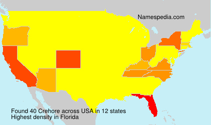Surname Crehore in USA