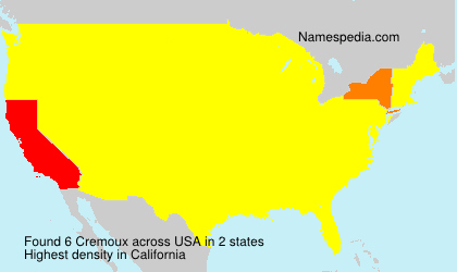 Surname Cremoux in USA