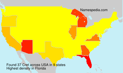 Surname Cret in USA