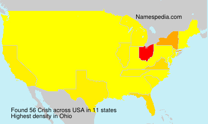 Surname Crish in USA
