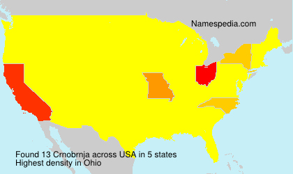 Surname Crnobrnja in USA