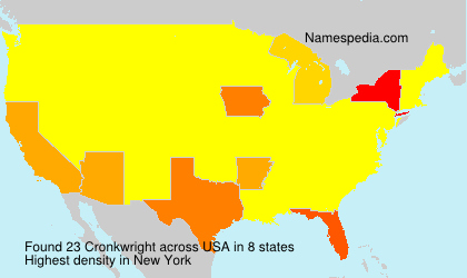 Surname Cronkwright in USA