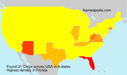 Surname Croye in USA