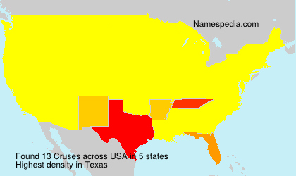 Surname Cruses in USA