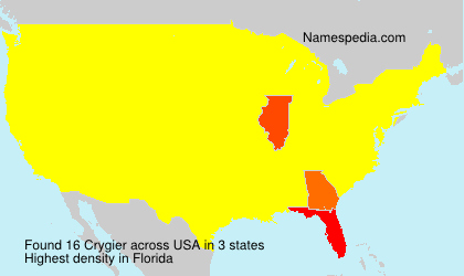 Surname Crygier in USA