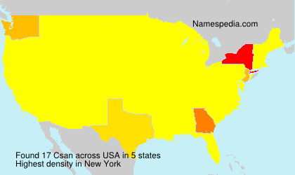 Surname Csan in USA