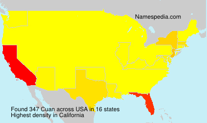 Surname Cuan in USA