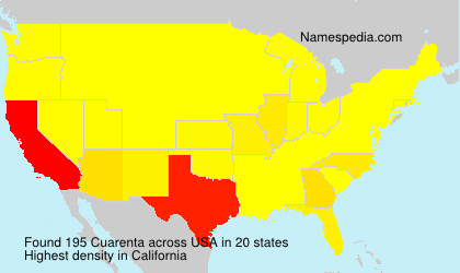 Surname Cuarenta in USA