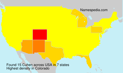 Surname Cuhen in USA