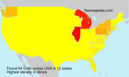 Surname Culik in USA