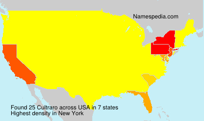 Surname Cultraro in USA