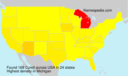 Surname Curell in USA