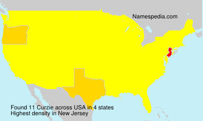 Surname Curzie in USA