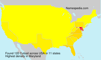 Surname Cutsail in USA