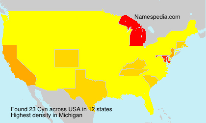 Surname Cyn in USA