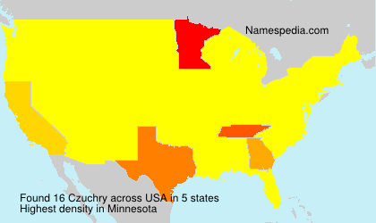 Surname Czuchry in USA