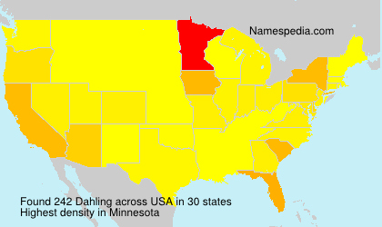 Surname Dahling in USA