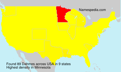 Surname Dahmes in USA