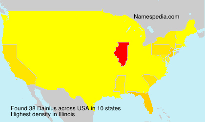 Surname Dainius in USA