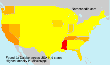 Surname Daleke in USA
