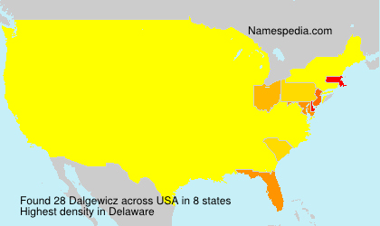 Surname Dalgewicz in USA