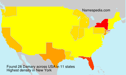 Surname Damary in USA