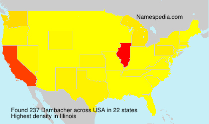Surname Dambacher in USA