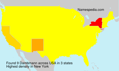 Surname Dambmann in USA