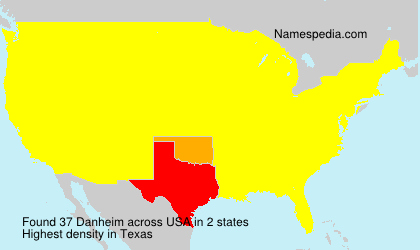 Surname Danheim in USA