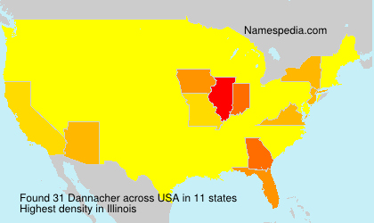 Surname Dannacher in USA