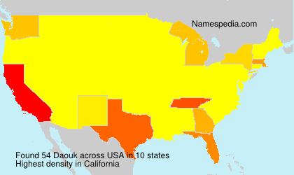 Surname Daouk in USA