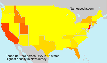 Surname Darc in USA
