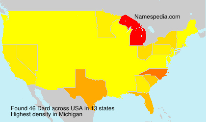 Surname Dard in USA
