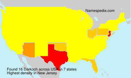 Surname Darkoch in USA